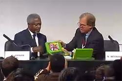 Presentación de la laptop de 100 dolares