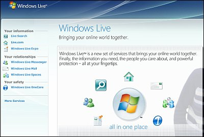 Acceso de los servicios Live de Microsoft