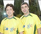 Sergey Brin y Larry Page en Brasil