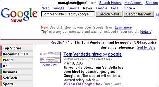 Google News Hoax