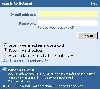 Hotmail & Windows Live ID
