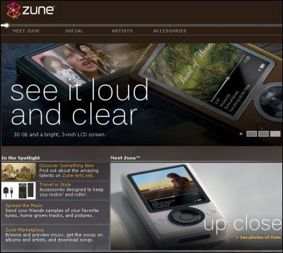 Portal de Microsoft Zune