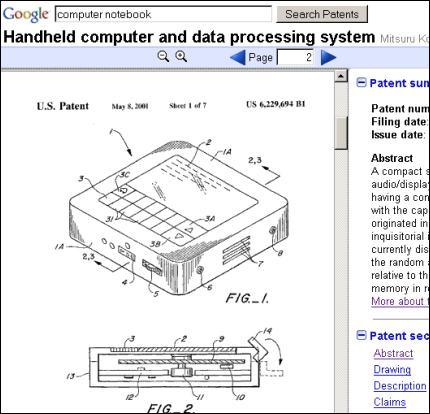 Resultado de una busqueda de patentes