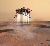 Phoenix Mars aterrizando
