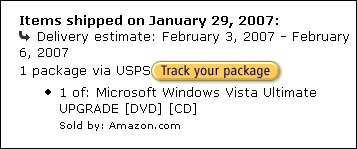 Amazon comienza a enviar los pedidos de Windows Vista