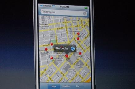 GoogleMaps en iPhone
