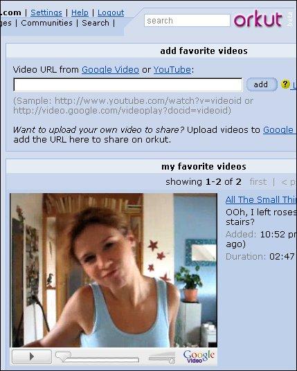 Videos de Google y Youtube en Orkut