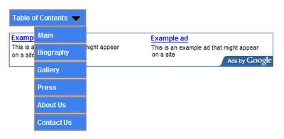 Anuncio de Google AdSense que no esta permitido