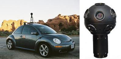 Auto y camara de Google Street View