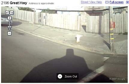Sombra el coche de Google Street View