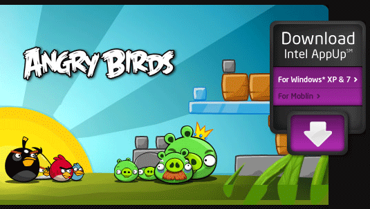 Angy Birds en el Intel App Store